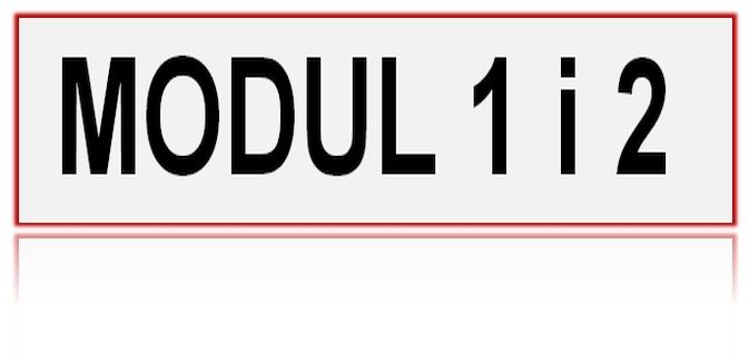 Provjera znanja MODUL 1 i MODUL 2 – 27.03.2021.